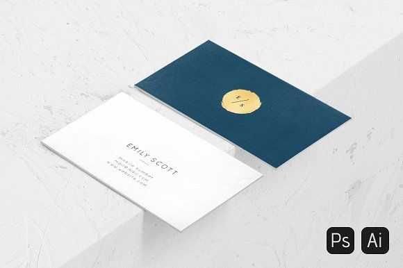 Blue, gold business cards by Bold Resume on @creativemarket