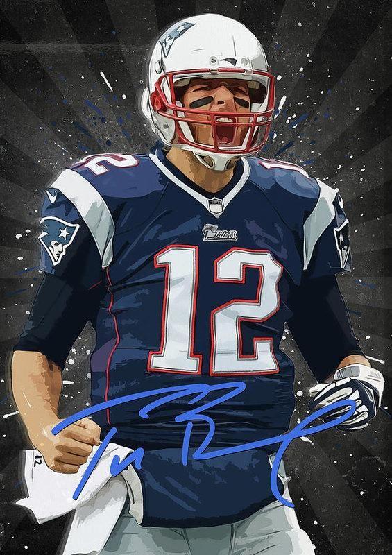 Tom Brady Art Print Tom Brady Art Tom Brady Football Artwork