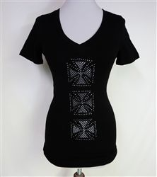 Three A-Cross Tee w/ front and back mesh designs-NEW!