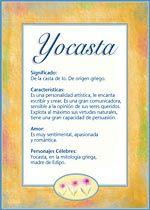 Yocasta Nombres El Significado De Los Nombres Tu Nombre Tarjetas Postales Tuparada Com Significados De Los Nombres Nombres Nombre
