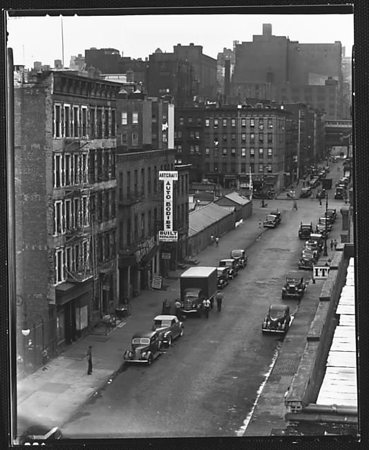 New York City Apartment Streets: View Of East 92nd Street, From Roof Of