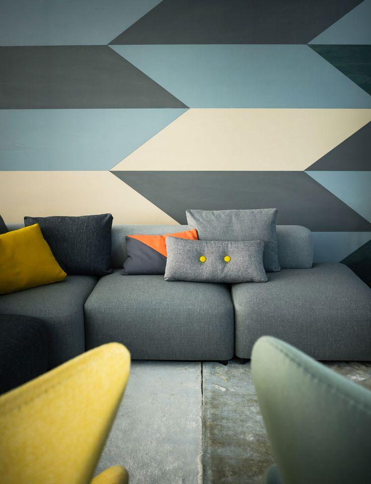 Geometrische Muster Fr Stoffe Und Tapeten Module Mbel Wie Hier Sitzelemente Ein Sofa Sind Sehr Wichtige Bestandteile Des Nordischen Stils