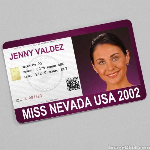Jenny Valdez Miss Nevada USA 2002 card