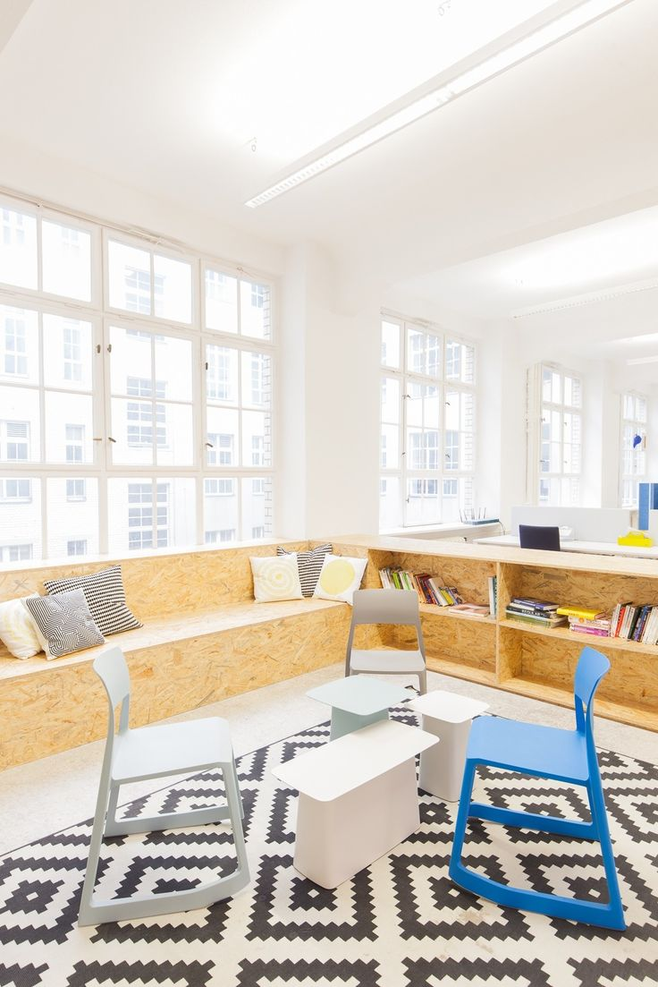 """buddybrand, a German-based digital agency that helps brands understand and execute total digital transformation, recently opened its new headquarters in Berlin. """"Together with Vitra we managed to create a working space that totally fits our needs as an agile agency – no fixed desks for our staff and personal boxes instead of big moving storage units to reduce … Continue reading A Look Inside buddybrand's Hip Berlin Office →"""