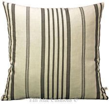 CABBAGES and ROSES Designer Linen Jolly Stripe Black Cushion Pillow Cover
