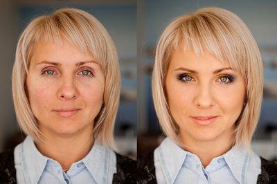 Vorher / Nachher - ARISTOS Fotostudio - Make-up / Before & After Makeup