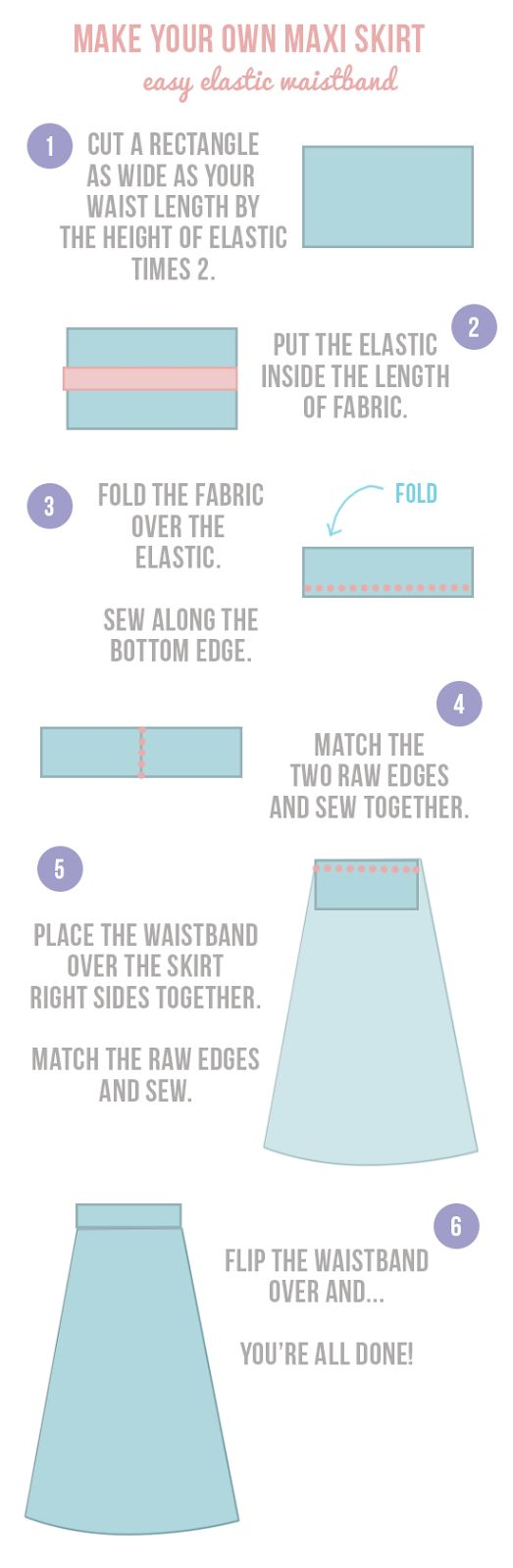 How To Sew | easy 5 minute waistband |Randomly Happy DIY | making sewing simple and easy
