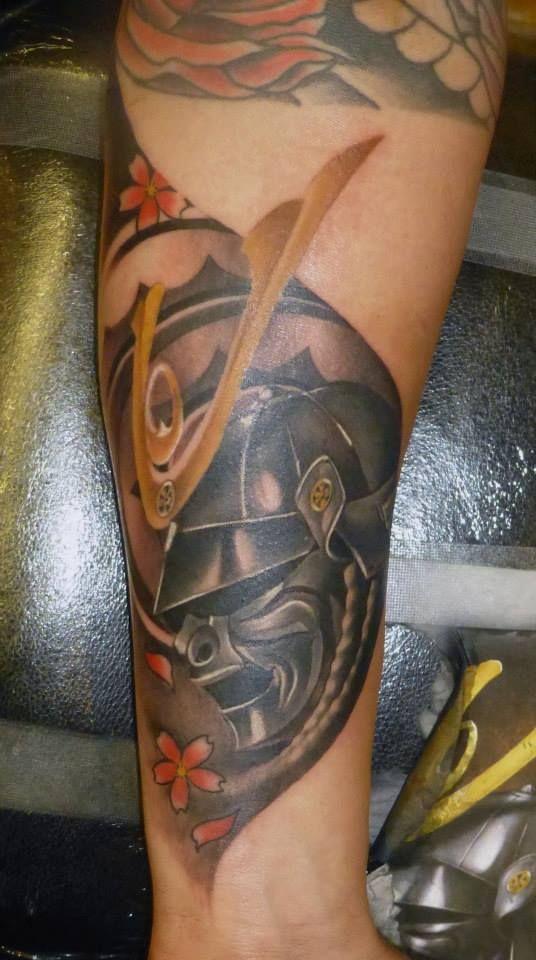 Samurai Mask on forearm   Mascaras Samurai   Pinterest
