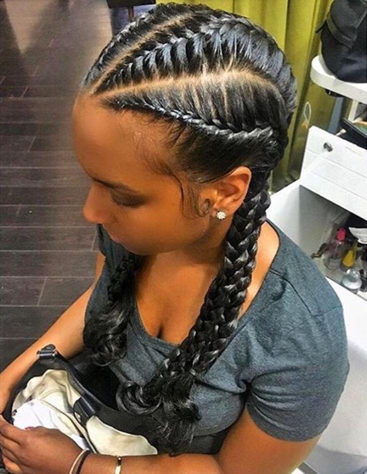 Best 25+ French braids black hair ideas on Pinterest ...