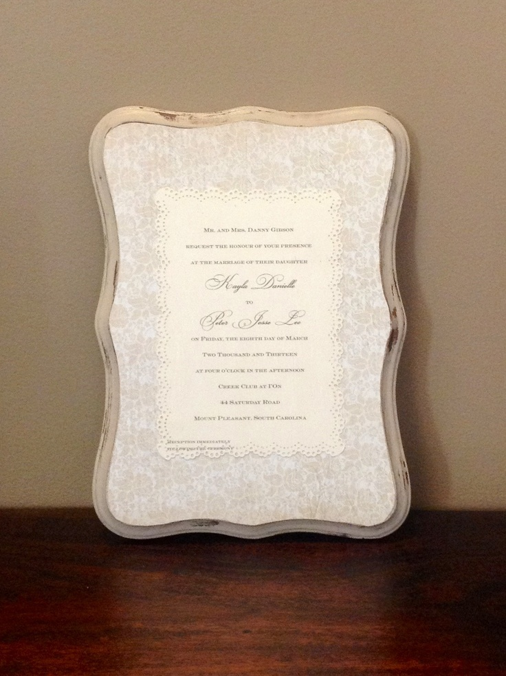 wedding invitation keepsake plaque - 28 images - custom wedding ...