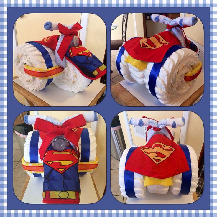 Superman Tricycle Diaper Cake.. Superman Baby ShowerSuperman ...