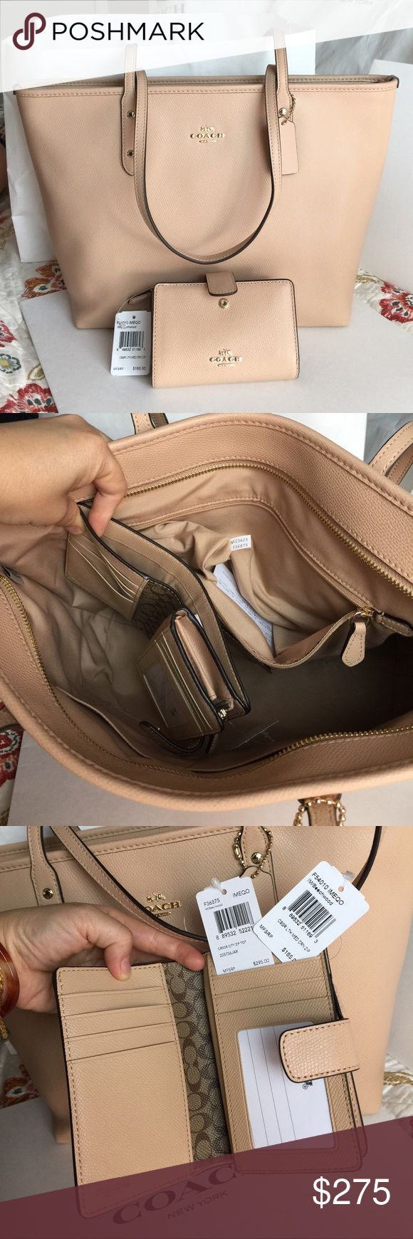 Coach Tote Bag & Wallet 100% Authentic Coach Tote Bag and Wallet, both brand new with tag! Coach Bags Totes