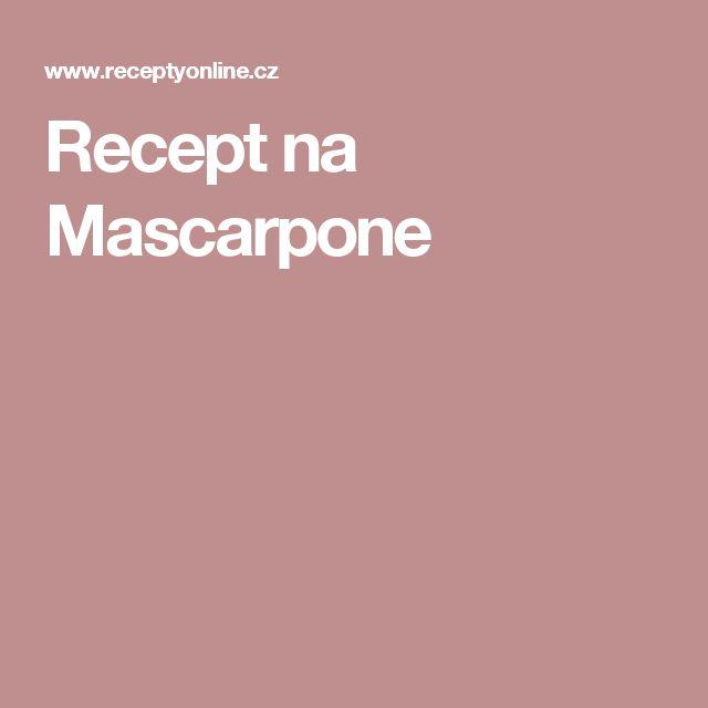 Recept na Mascarpone