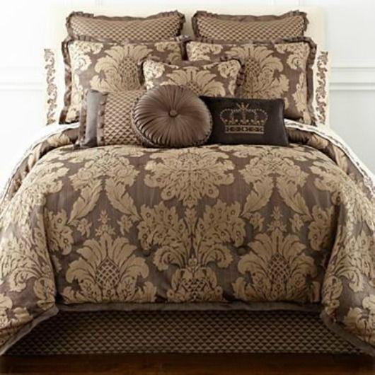 Queen Street New York Chiara Bronze Queen Comforter Set 4pcs New Retail 470