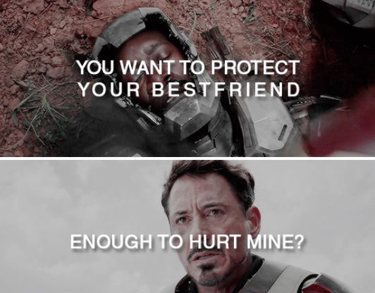 This hurts me. Team Cap and Team Tony, man. I'm not going to choose between the two. #TeamUnity