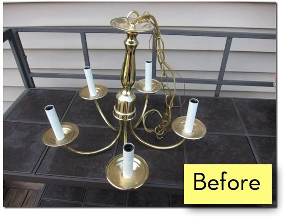 How To Turn An Indoor Chandelier Into An Outdoor