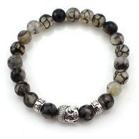 Unisex Natural Stone Buddha Bead Bracelets