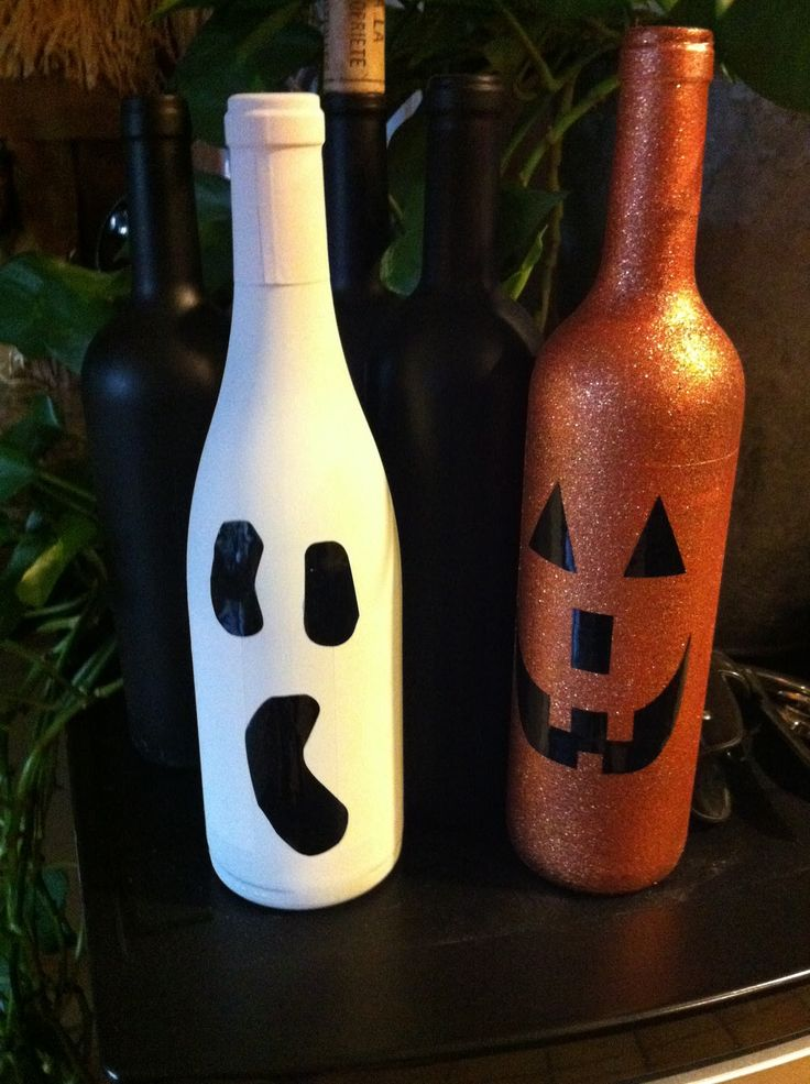 1000 images about halloween decor on pinterest for Empty wine bottles