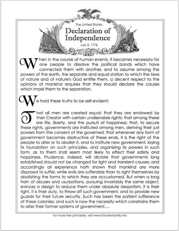 Great Preamble to the Declaration of Independence! Pin It