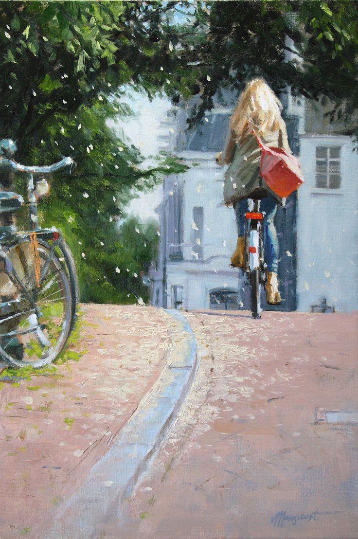 Springsnow | oil on linen painting by Richard van Mensvoort