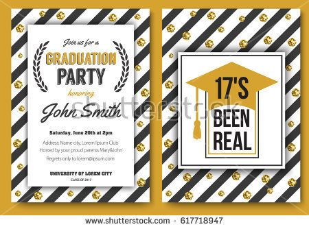 Best Prom Graduation Party Invitations Images On