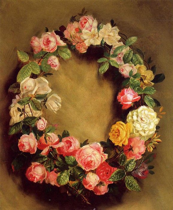 Crown of Roses   -   1858. Пьер Огюст Ренуар