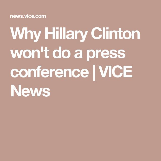 Why Hillary Clinton won't do a press conference | VICE News