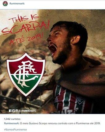 Fluminense divulga renovação de Scarpa de forma descontraída (Foto: Reprodução / Instagram)