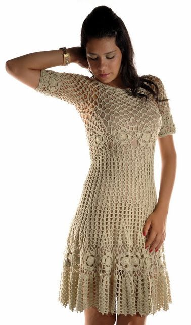 Hooked on crochet: Crochet top and dress / Blusa e vestido de crochê