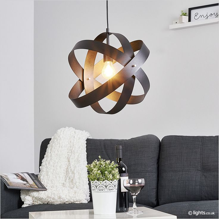 Black LED Pendant Light Cara With Three Rings