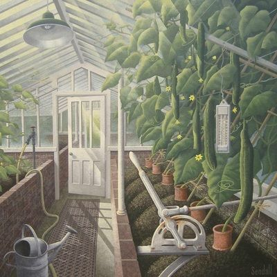 Sadly my cucumbers leave a little to be desired this year!  Graham Sendall, The Cucumber House at West Dean College