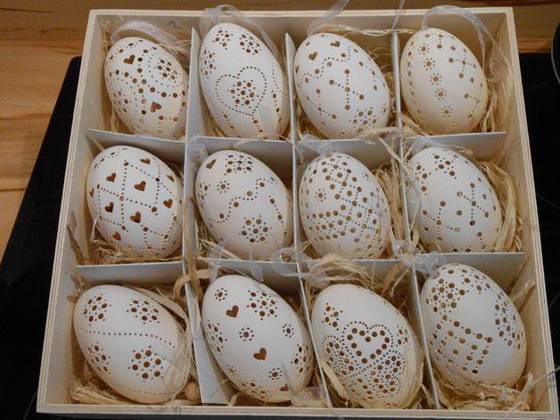 Ostereier - Handgebohrtes Gänse-Ei - ein Designerstück von Wald-Paradies bei DaWanda