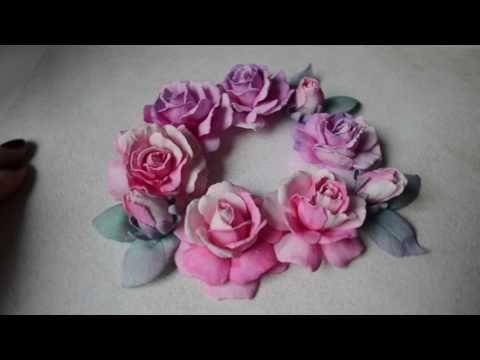 Moje różyczki z foamiranu do kartek :) FOAMIRAN KWIATY