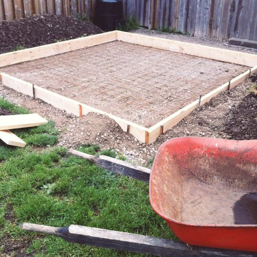 Awesome Project Backyard: Pouring A Concrete Pad