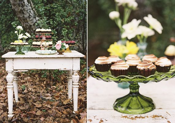 Mini cupcake table | photos by Braedon Flynn | 100 Layer Cake