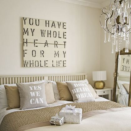 """""""You have my whole heart for me whole life"""" over the bed"""
