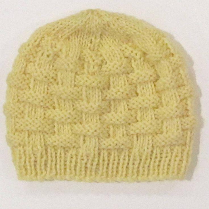 Basketweave baby hat