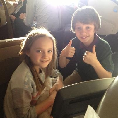 isabelle allen and daniel huttlestone. Is it just me or does Daniel Huddlestone give two thumbs up a lot?