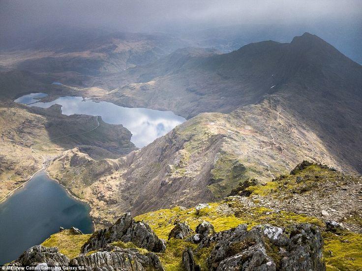 View of Llyn Llydaw, Snowdonia, Wales