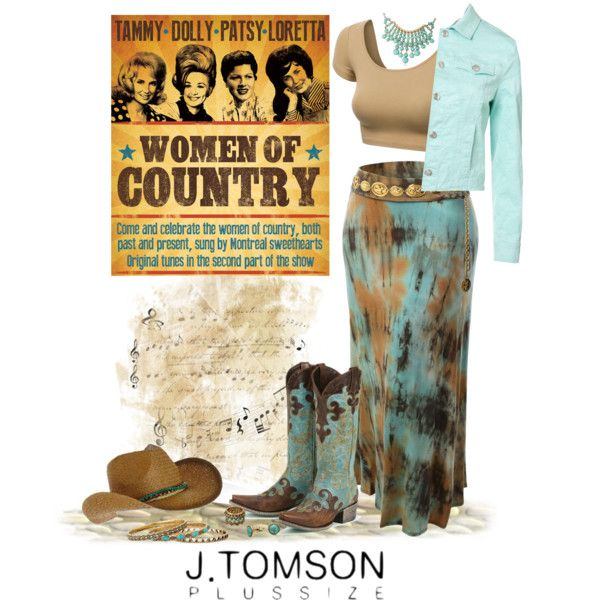 Boho Chic Cowgirl Plus Size, created by dkelley-0711 on Polyvore