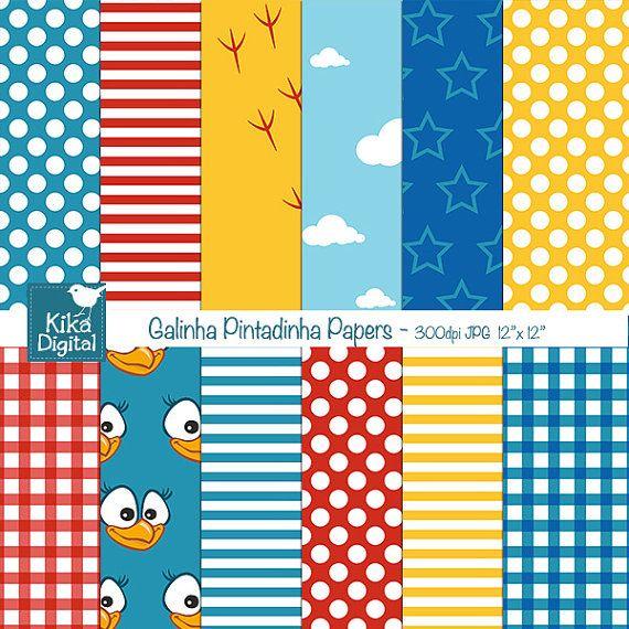 Lottie Dottie Chicken Digital Papers Chicken by kikaesteves