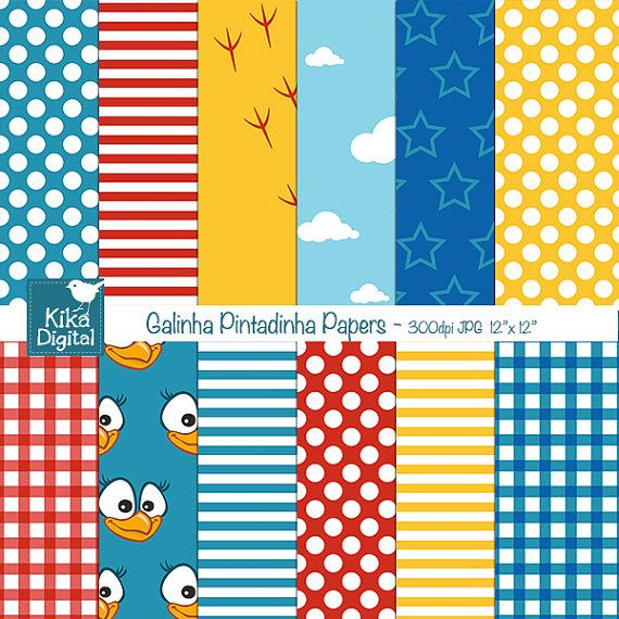 Lottie Dottie Chicken Digital Papers Chicken by kikaesteves