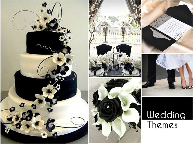Lend the magic of monochrome to your wedding. Stick to a black and white palette for a classic touch.#WeddingThemes