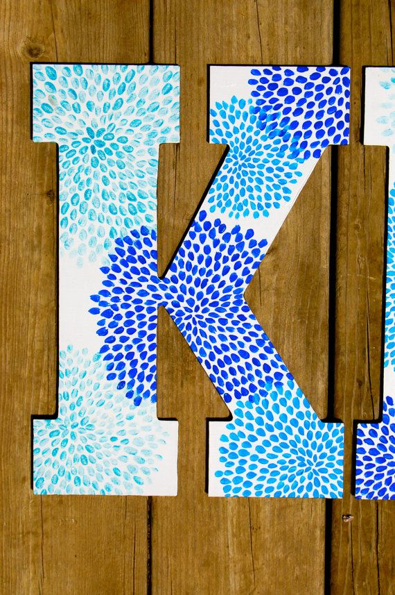 Large Custom Hand Painted Greek Letters por rskelton en Etsy