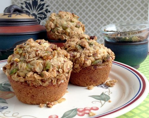 Chai Tea Muffins with Pistachio Streusel