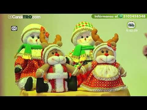 Adorno navideño con material reciclable - Muñeca de nieve - YouTube