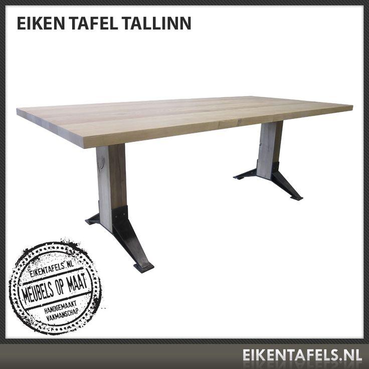 """Kies voor betaalbaar design, ontdek onze originele ontwerpen en de nieuwe collectie eiken tafels, zoals bijvoorbeeld Tafel """"Tallinn"""". De veelal massief eiken houten meubelen van Eikentafels.nl zijn goed doordacht en modern vormgegeven, gemaakt van nauwkeurig geselecteerde materialen en afgewerkt met een hoge kwaliteit vakmanschap. Tafel """"Tallinn"""" is van massief Europees eiken. In verschillende afmetingen mogelijk. Eikentafels.nl is een echte specialist voor een tafel voor uw eethoek…"""
