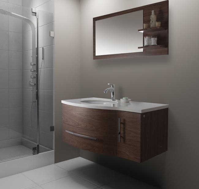 Bathroom Vanities, Natural Grey Bathroom Inspiration With Floating 44 Inch  Bathroom Vanity With The Appropriate
