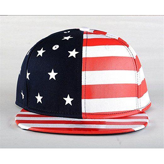 Unisex Moda Estate Esterno Sport Hip Hop Bandiera Americana Cappello Da Sole Cappellino Da Baseball Cappellino Con Visiera,Rosso: Amazon.it: Abbigliamento