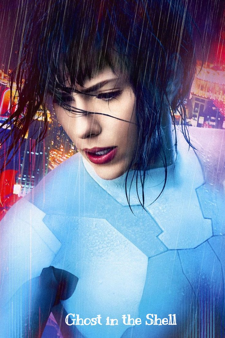 Scarlett Johansson stars in the visually stunning Ghost in the Shell